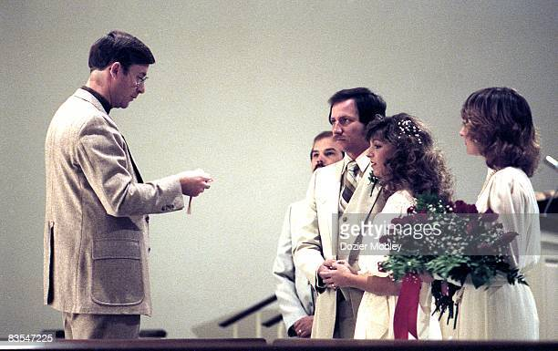 Dale and Teresa Earnhardt wedding on November 14 1982 in Mooresville North Carolina