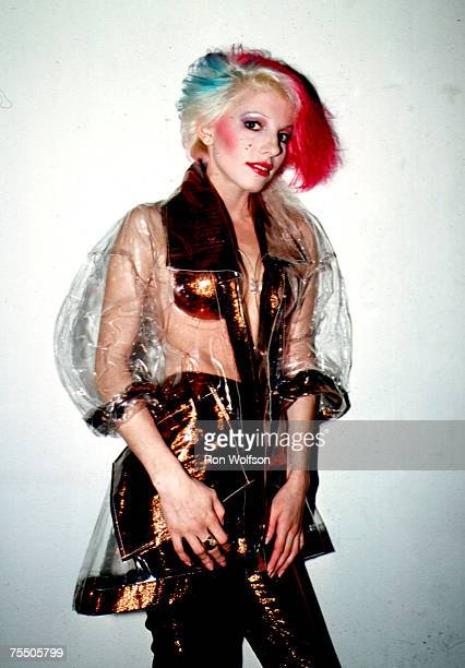 Dale Bozzio of Missing Persons performs on the TV show Solid Gold at KTLA Studios in Los Angeles