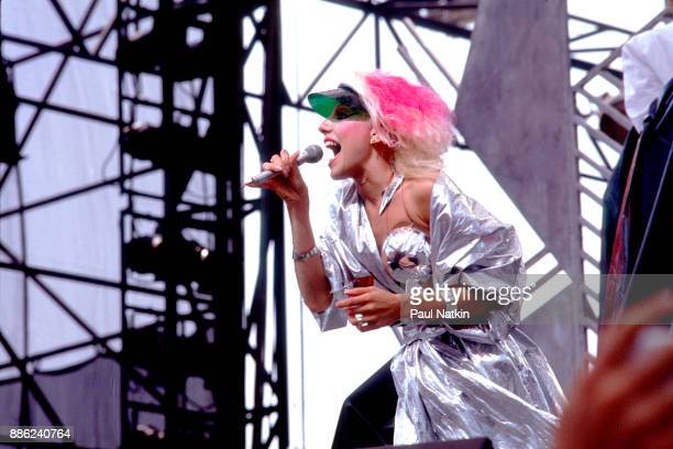 Dale Bozzio of the band Missing Persons performing at the US Festival in Ontario California May 29 1983