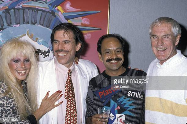 Dale Bozzio Peter Max Cheech Marin and Timothy Leary