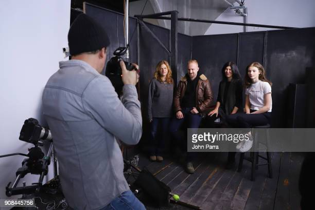 Dale Dickey Ben Foster Debra Granik and Thomasin McKenzie from 'Leave No Trace' attends The Hollywood Reporter 2018 Sundance Studio At Sky Strada...