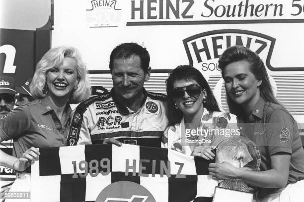Dale Earnhardt and his wife Teresa in victory lane at the Southern 500 in Darlington South Carolina