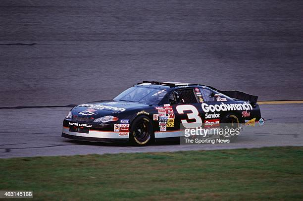 Dale Earnhardt drives his car during practice for the Daytona 500 at the Daytona International Speedway on February 17 2001 in Daytona Beach Florida