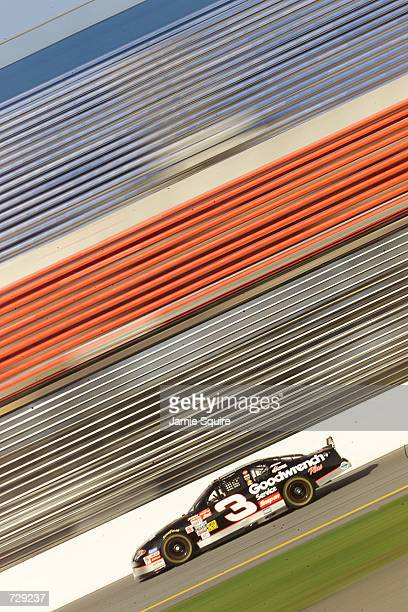 Dale Earnhardt in the GM Goodwrench Chevrolet during practice for the Daytona 500 at the Daytona International Speedway in Daytona Beach Florida...