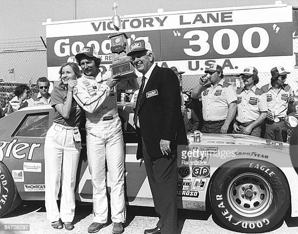 Dale Earnhardt in victory lane following the Goody's 300 on February 13 1982 in Daytona Beach Florida The race marked the first event run under the...