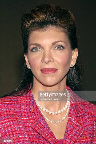 Dale Earnhardt Inc CEO Teresa Earnhardt arrives at the National Mother's Day Committee 2002 Mother of the Year luncheon April 25 2002 in New York City