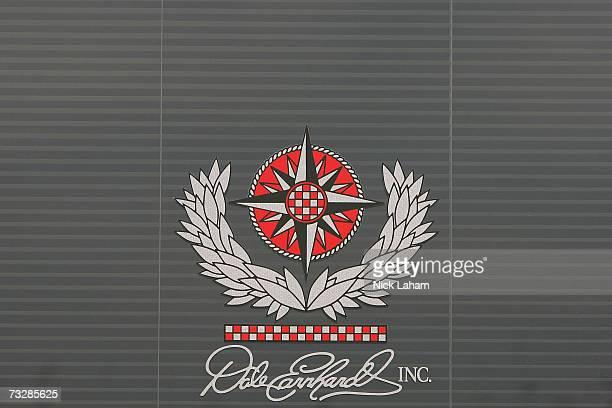 Dale Earnhardt Inc. Logo, seen on a window during practice for the Daytona 500 at Daytona International Speedway on February 10, 2007 in Daytona,...