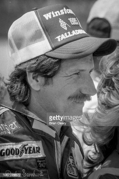 Dale Earnhardt is shown on the grid before the Winston 500 NASCAR Winston Cup Series race Talladega Superspeedway Talladega Alabama