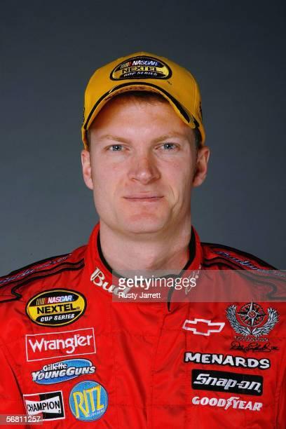 Dale Earnhardt Jr., driver of Budweiser Chevrolet at NASCAR media day Daytona International Speedway on February 9, 2006 in Daytona, Florida.