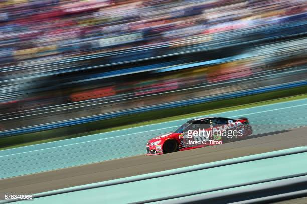 Dale Earnhardt Jr driver of the AXALTA Chevrolet races during the Monster Energy NASCAR Cup Series Championship Ford EcoBoost 400 at HomesteadMiami...