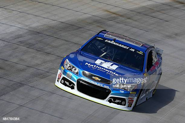 Dale Earnhardt Jr driver of the Nationwide Chevrolet practices for the NASCAR Sprint Cup Series Irwin Tools Night Race at Bristol Motor Speedway on...