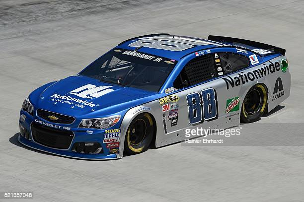 Dale Earnhardt Jr driver of the Nationwide Chevrolet practices for the NASCAR Sprint Cup Series Food City 500 at Bristol Motor Speedway on April 14...