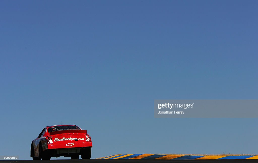 Dale Earnhardt Jr. Drives His #8 Budweiser Chevrolet During Practice For  The NASCAR Nextel