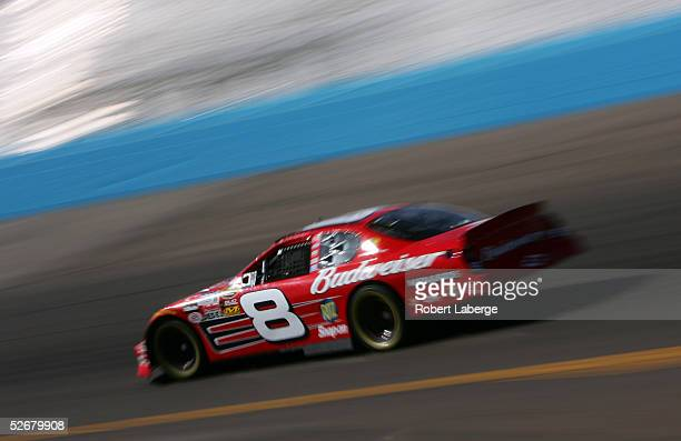 Dale Earnhardt Jr. Drives his Budweiser Chevrolet during practice for the NASCAR Nextel Cup Series Subway Fresh 500 at the Phoenix International...