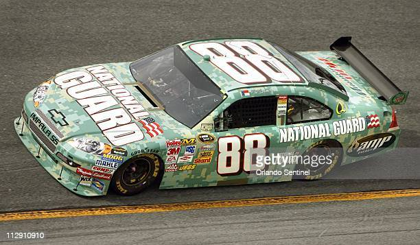 Dale Earnhardt, Jr. Drives his Nextel Sprint Cup car during qualifying for the Coke Zero 400 at Daytona International Speedway in Daytona Beach,...
