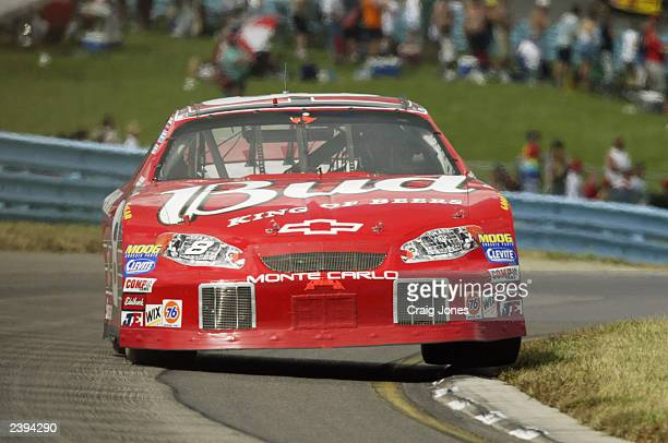 Dale Earnhardt Jr drives the Budweiser Chevrolet during the Sirius at The Glen Winston Cup Race on August 10, 2003 at Watkins Glen International in...