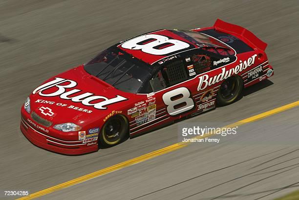 Dale Earnhardt Jr. Driving the car during Gatorade Twin 125s qualifying race for the NASCAR Winston Cup Daytona 500 at Daytona International Speedway...