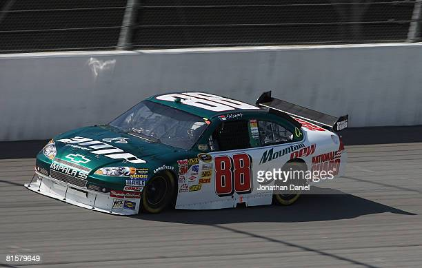 Dale Earnhardt Jr driving the National Guard/AMP Energy Cherolet races during the NASCAR Sprint Cup Series Lifelock 400 at the Michigan International...