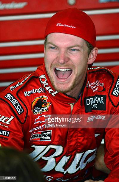 Dale Earnhardt Jr during practice for the EA Sports 500 at Talladega Superspeedway on October 4 2002 in Talladega Alabama