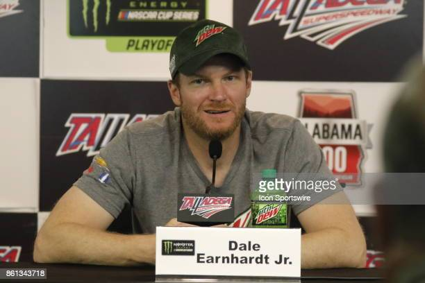 Dale Earnhardt Jr Hendrick Motorsports Mountain Dew Chevrolet SS during practice for the Alabama 500 on October 13 2017 at Talladega Motor Speedway...