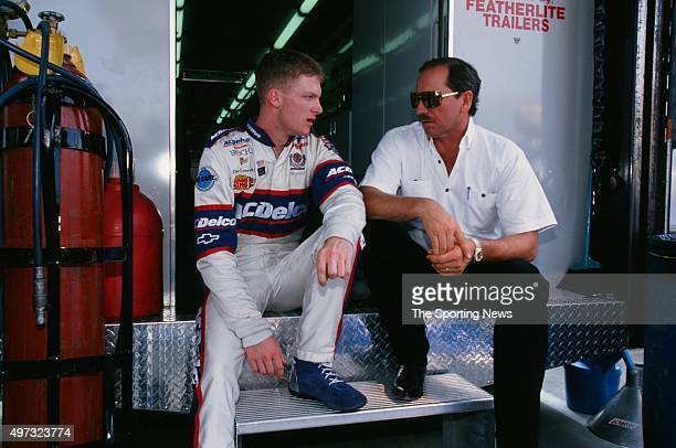 Dale Earnhardt Jr looks on during the NASCAR CocaCola 600 on May 21 1998