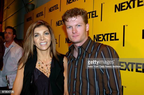Dale Earnhardt Jr one of the top ten NASCAR drivers and his stepmother Teresa Earnhardt are on hand for the NASCAR Nextel Cup Series Champion's...