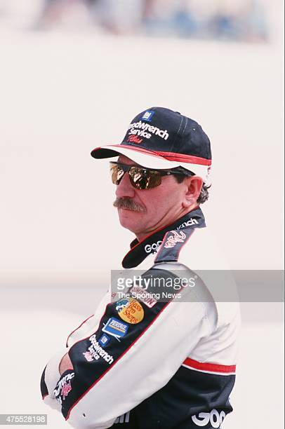 CONCORD NC Dale Earnhardt looks on during the UAWGM 500 in Concord North Carolina on October 5 2000