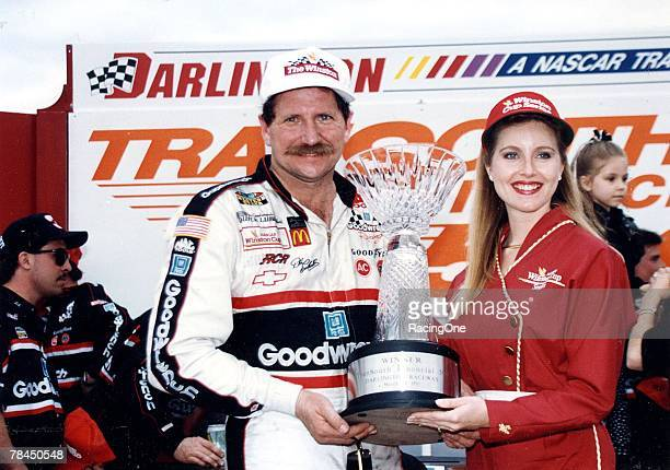 Dale Earnhardt made up the lap he lost to emerge the winner of the TranSouth 500 at Darlington Raceway in Darlington South Carolina on March 28 1993...