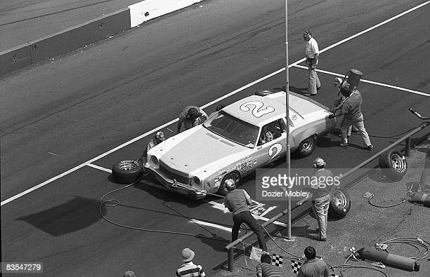 Dale Earnhardt pits during the CRC Chemical Rebel 500 race on April 8 1979 at Darlington Raceway in Darlington South Carolina