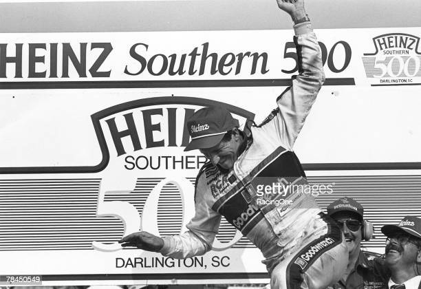 Dale Earnhardt posted his 37th career NASCAR Cup triumph by winning the 1989 Southern 500 on September 3 1989 at Darlington Raceway in Darlington...