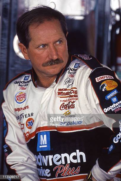 Dale Earnhardt prior to the start of a NASCAR Cup race at Darlington Raceway
