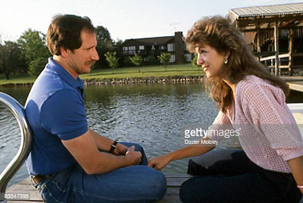 Dale Earnhardt sits with wife Teresa in May 1984 at their home in Mooresville North Carolina