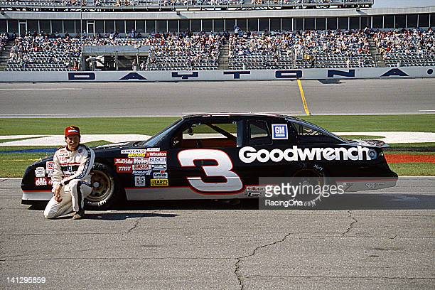 Dale Earnhardt with the Richard Childressowned GM Goodwrench Chevrolet Monte Carlo NASCAR Cup car at Daytona International Speedway After finishing...