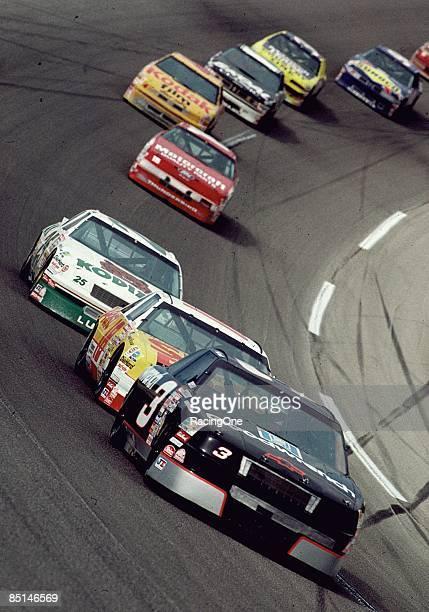 Dale Earnhardt won the Winston 500 over Greg Sacks on May 6 1990 at the Talladega Speedway in Talladega Alabama