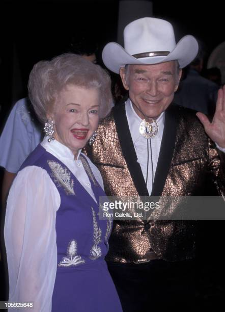 Dale Evans and Roy Rogers during 13th Annual Golden Boot Awards at Century Plaza Hotel in Century City California United States