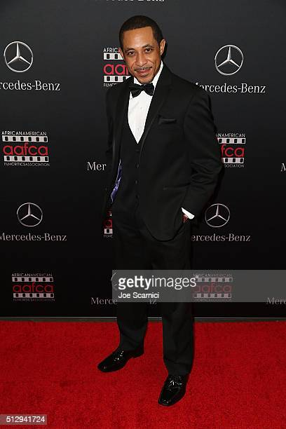 Dale Godboldo arrives at the MercedesBenz and African American Film Critics Association Oscar viewing party at Four Seasons Hotel Beverly Hills on...