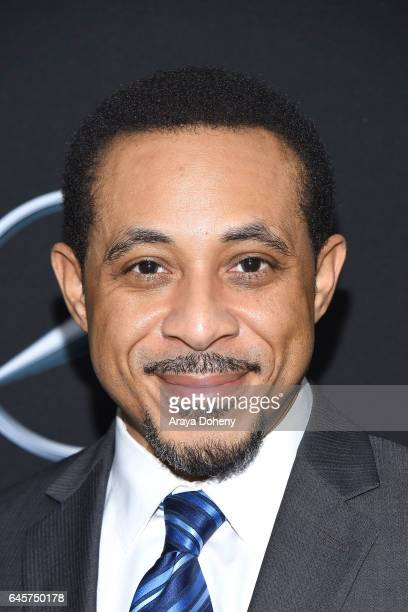 Dale Godboldo attends the MercedesBenz x ICON MANN 2017 Academy Awards Viewing Party at Four Seasons Hotel Los Angeles at Beverly Hills on February...