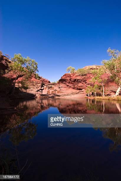 dale gorge karijini national park creek - billabong water stock photos and pictures