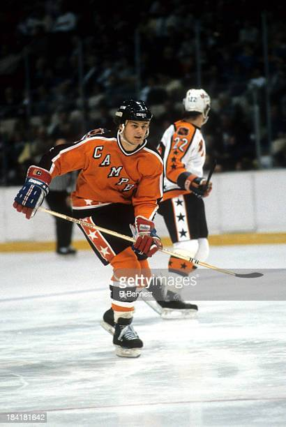 Dale Hawerchuk of the Campbell Conference and the Winnipeg Jets skates on the ice during the 1986 38th NHL AllStar game against the Wales Conference...