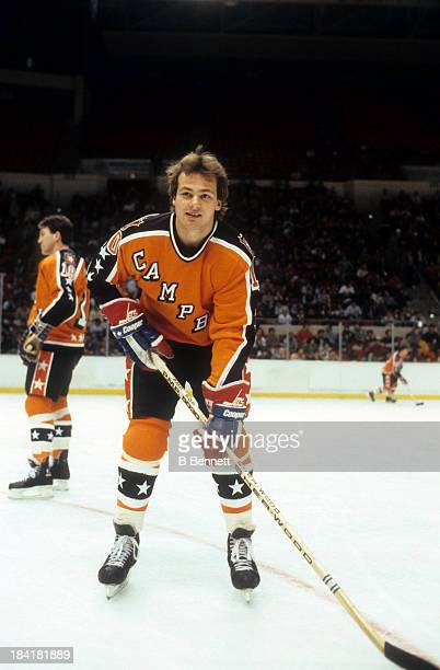 Dale Hawerchuk of the Campbell Conference and the Winnipeg Jets poses for a portrait before the 1986 38th NHL AllStar game against the Wales...