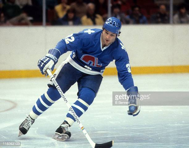 Dale Hunter of the Quebec Nordiques skates on the ice during an NHL game in January 1982