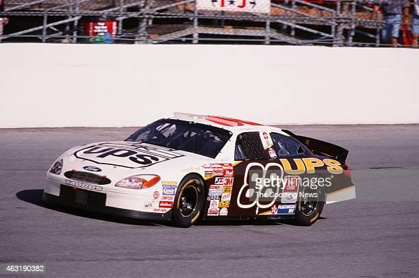 Dale Jarrett drives his car during the Daytona 500 at the Daytona International Speedway on February 16 2001 in Daytona Beach Florida