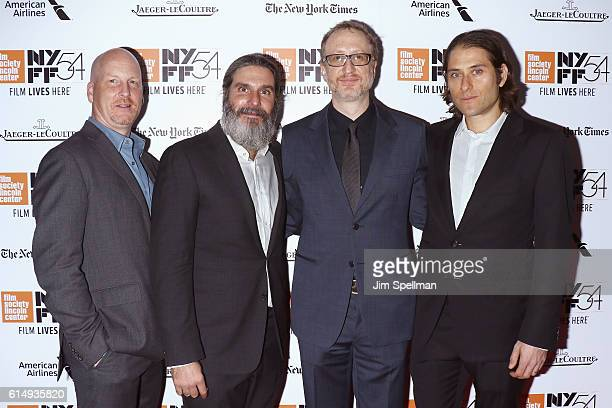 """Dale Johnson, Anthony Katagas, James Gray, Jeremy Kleiner attend the 54th New York Film Festival closing night screening of """"The Lost City Of Z"""" at..."""