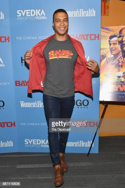 Dale Moss attends The Cinema Society's Screening Of Baywatch at Landmark Sunshine Cinema on May 22 2017 in New York City