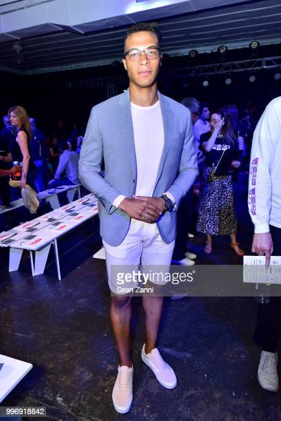 Dale Moss attends the Todd Snyder S/S 2019 Collection during NYFW Men's July 2018 at Industria Studios on July 11 2018 in New York City