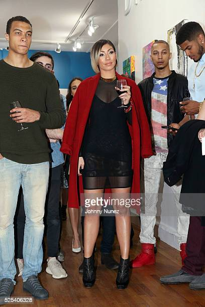 Dale Moss Bridget Kelly Andrew Harris and Keith Thomas attend the Leesa Dream Home Gallery Preview Launch Event on April 27 2016 in New York City