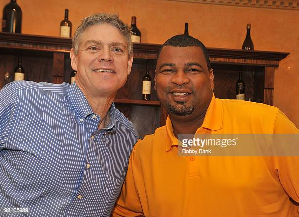 Dale Murphy and Jose Rijo attends the Solid Gold Autograph show at the Meadowlands Plaza on March 27 2010 in Secaucus New Jersey