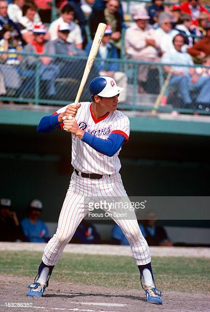 Dale Murphy of the Atlanta Braves bats against the Montreal Expos during a spring training Major League Baseball game circa 1978 Murphy played for...
