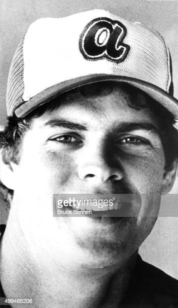 Dale Murphy of the Atlanta Braves poses for a portrait before an MLB game circa 1982