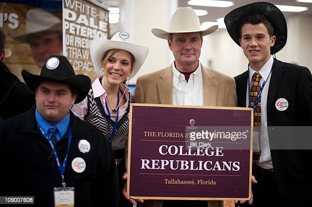 Dale Peterson, former candidate for Alabama Commissioner of Agriculture and Industries, poses with a group of College Republicans from Florida State,...